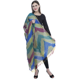 SILK COTTON BLEND WOVEN WOMEN'S  DUPATTA