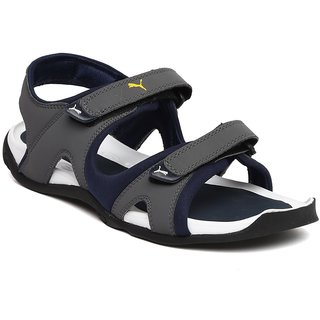 782fecafbe9cfd Buy Puma Men Grey Navy Jimmy Sports Sandals Online   ₹2999 from ...