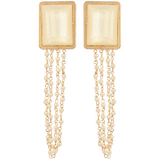 GoldNera Non Plated White Alloy Traditional/Ethnic Dangle Earrings for Girl's