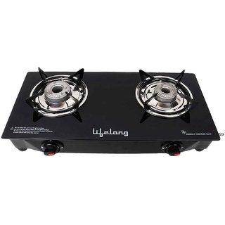 Lifelong LLGS09 Black Glasstop 2Burner