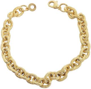 Sanaa Creations Stylish Yo Yo Gold Plated Adjustable Bracelet for Men Daily/Party Wear Stylish Fashion Jewellery for Men