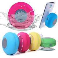New Portable Waterproof Bluetooth Shower Speaker with Mic - Best In Class  (Assorted Colors)