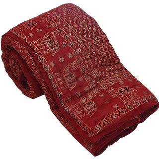 shoppingtara Gold Print Pure Cotton Double Bed Rajai Quilt