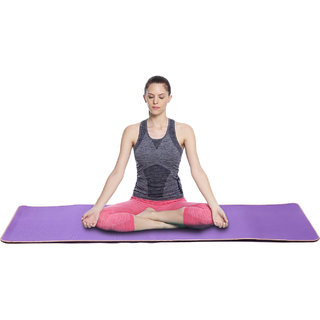 Archana NHR Yoga Mat / Exercise Mat of 4mm With Attached Carry Strap And 3 Wire Organizers (Purple)