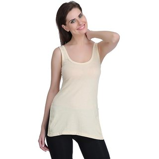 Care in Cotton Round Neck Solid Camisole for Womens Pack of 1