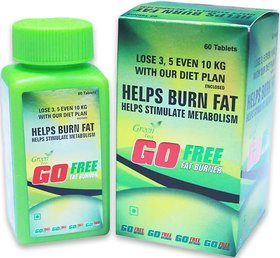 Go Free Best Full Body Fat Burner Helps In Simulate Metabolism Green Tea Flavour - 60 Capsules