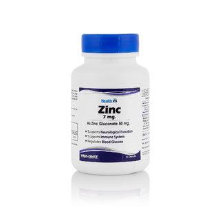 Healthvit Zinc Gluconate 50mg 60Capsules