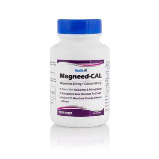 Healthvit Magnesium 400mg & Calcium 1000mg 60 Tablets