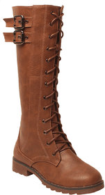 Msc Women Tan Synthetic Boots