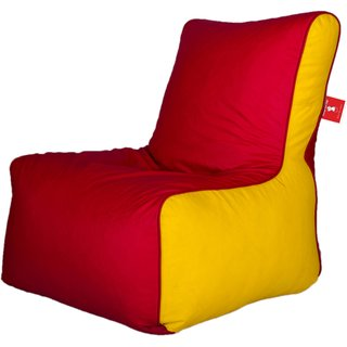 Sicillian Bean Bags Bean Chair - Size Xl - Without Fillers - Cover Only (Red & Yellow)