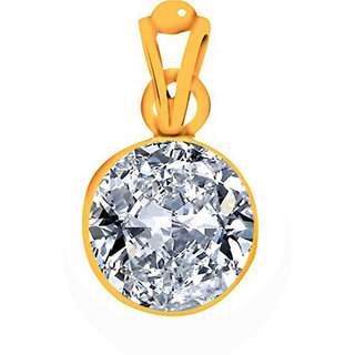 Divya Shakti 25.25 - 25.50 Ratti American Diamond Pendant / Locket ( Zircon / Jerkan Panchadhatu Pendant ) 100% Original AAA Quality Gemstone