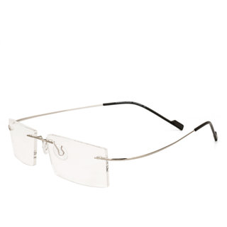 a34e4ec2dd Royal Son Rim Less Rectangle Spectacle Frame For Men and Women  (RS02100ER50Transparent Lens)