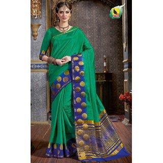 ASHIKA TULSI5 NEW DESIGNER SAREE-Green-SBW2612-VQ-Raw Silk