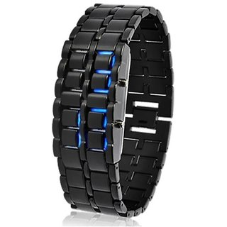 Skmei Metal bracelet Blue Led Watch For Men Boys