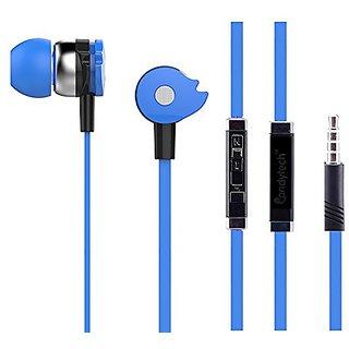 Earphone with Mic headphone for Calls  Music EZ271 BLUE