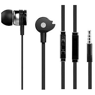 Earphone with Mic headphone for Calls  Music EZ271 BLACK