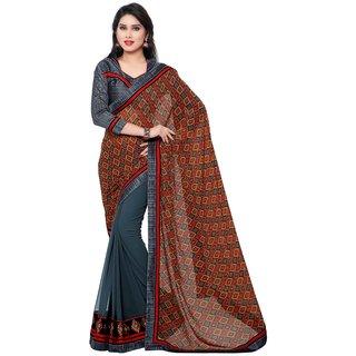 Indian women Georgette multicolor saree-Multicolor-INWIC40416-MM-Georgette