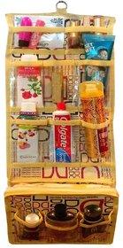 Atorakushon Printed Long Folding Hanging Cosmetic Makeup Pouch Travel Organizer kit with Zip Wardrobe Organiser