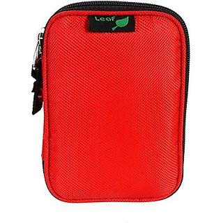 Leaf Hard Disk Pouch Elite Slim ( Red)