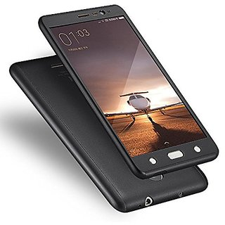 Mobimon 360 Degree Full Body Protection Front Back Case Cover (iPaky Style) with Tempered Glass for VIVO Y53 (Black)