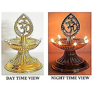 Electric Diya Lamp Light One Layer LED for Diwali New Year Christmas by ReBuy