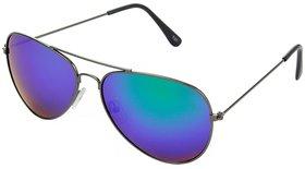 Wrode Blue Mercury Aviator Sunglasses For Men