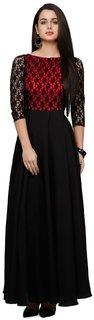 Solid Black Crepe Dress