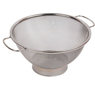 Bartan shopee stainless steel heavy colander basket /multi purpose strainer/ diameter 9 inch/ use as strainer no.9