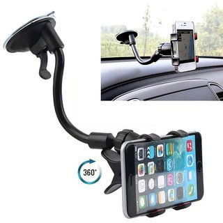 Long Arm Universal Car Soft Tube Holder For All type Mobiles/MP4/PDA/PSP/GPS, Cellphone-Keeper-Rotatable and flexible
