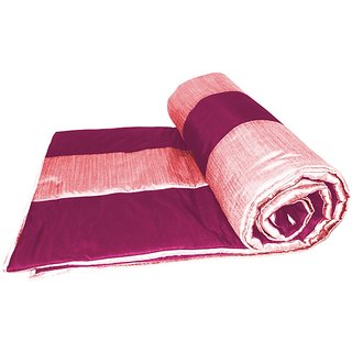 Pink and Fushia Straight Stripe Queen Quilt (150 x 225 cms)