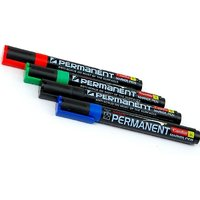 Camlin Permanent Permanent Markers  (Set Of 10, Black)