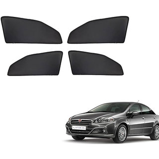 Autonity Z Black  Magnetic  Curtain Car Sunshades Set Of 4-Fiat Linea