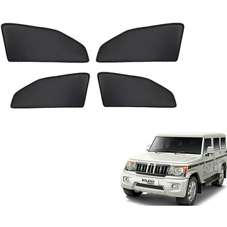 Autonity Z Black  Magnetic  Curtain Car Sunshades Set Of 4-Mahindra Bolero