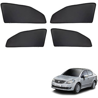 Autonity Z Black  Magnetic  Curtain Car Sunshades Set Of 4-Maruti Suzuki SX4