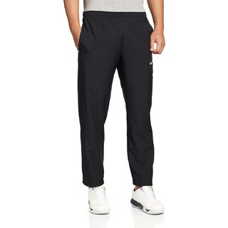 NIKEMEN Black Polyester Lycra Trackpants