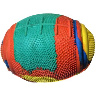 S N ENTERPRISES SNE1114 RUGBY BALL FOR PETS ASSORTED (10 INCH DIAMETER, 280GM )