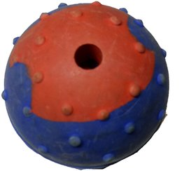 S N ENTERPRISES SNE1124 RUBBER SPIKED MUSICAL BALL SMALL SIZE FOR PETS ASSORTED