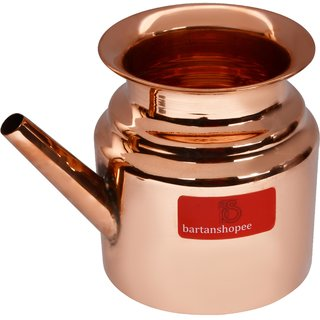 Bartan shopee Best Quality Pure Copper Lota Pot Kalash Capacity- 600 ml For Yoga Surya Namskar For Good Health Yoga Tem