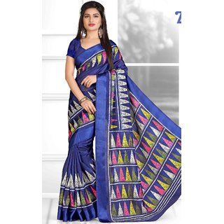 BANSI BANARASI COTTON DESIGNER SAREE-Dark Blue-MSC4611-VT-Cotton