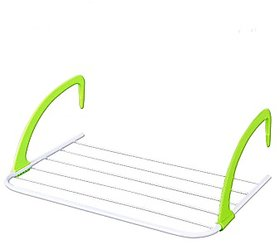 SYGA Multifunction Foldable Clothes Drying Rack (White,Green)
