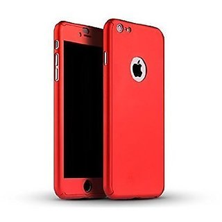 Mobimon 360 Degree Full Body Protection Front Back Case Cover (iPaky Style) with Tempered Glass for iPhone 7(Red)