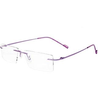 Royal Son Rim Less Rectangle Spectacle Frame For women (RS0650ER50Transparent Lens)