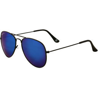Royal Son UV Protected Sunglasses For Men and Women (WHAT020058Bule Mirrored Lens)