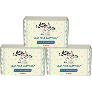 Goat Milk Baby Soap - Pack of 3 (30 GM)