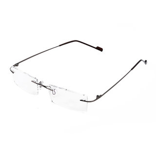 Royal Son Rim Less Rectangle Spectacle Frame For Men and Women (WHAT0810 50Transparent Lens)