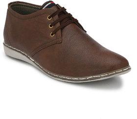 Lee Peeter Men Brown Lace-up Derby Casual Shoe