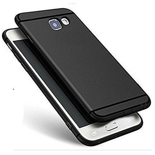 Samsung Galaxy On7 Pro Anti Skid Soft Black Silicone Matte Back Cover
