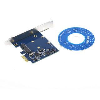 PCI-E To mSATA SSD+SATA3.0 Combo Extender Adapter PCI-E toSATAIII Card