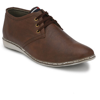 Lee Peeter Men Brown Lace-up Derby Casual Shoe
