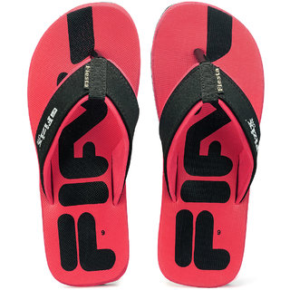 Frestol Men's Red Casual Flip Flop